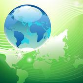 Planet green world concept — Stock Vector