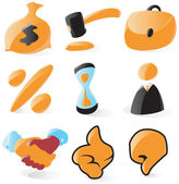 Smooth sales and auction icons — Stock Vector