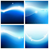 Vivid backgrounds of blue sky — Stock Vector