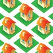 Houses background — Image vectorielle