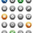 Round buttons for internet and shopping — 图库矢量图片