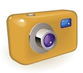 Compact photo camera — Stock Vector