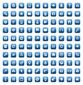Set of 100 icons for web and interface — Stok Vektör