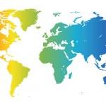 mapa světa spektrální — Stock vektor