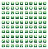 Set of 100 icons for web — Stock Vector