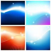 Vivid astral backgrounds — Stock Vector