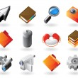 Isometric-style icons for interface — Stock Vector