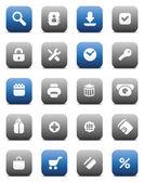 Matt buttons for internet — Stock Vector