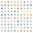 Multicolored icons and signs — Stock Vector