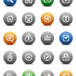 Stencil round buttons for internet — Stockvektor