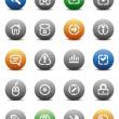stencil pulsanti rotondi per internet — Vettoriale Stock