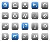 Stencil matt buttons for business — Stock Vector