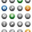 Stock Vector: Round buttons miscellaneous