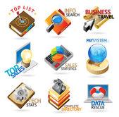 Business technology headers — Stock Vector