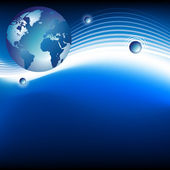 Concepto de planeta y satélites — Vector de stock