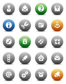 Round buttons miscellaneous — Stock Vector