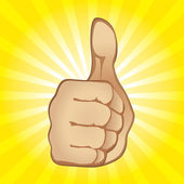 Thumb Up Gesture — Stock Vector