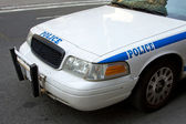 Front of Police car — Stock Photo