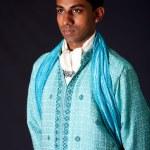 bir dhoti giyen hindu damat — Stok fotoğraf