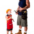 Father and son carpenter — Stock Photo