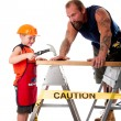 Royalty-Free Stock Photo: Father and son carpenter job