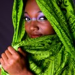Shy African woman with scarf — Stock Photo #2765358