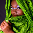 Shy Africwomwith scarf — Stock Photo #2765358