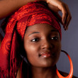 African woman with headwrap - Stock Photo