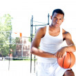 Handsome basketball player — Stock Photo