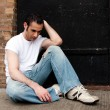 Depressed man — Stock Photo