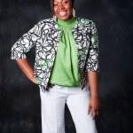 Beautiful African woman laughing — Stock Photo