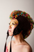 Colorful mohawk hat — Stock Photo