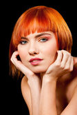 Beautiful redhead face — Stock Photo