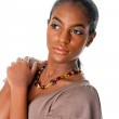 Beautiful African female face — Stock Photo