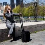 Entrepreneur woman on phone — Stock Photo