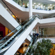 Office building escalators - Foto Stock
