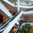 Office building escalators — Stock Photo