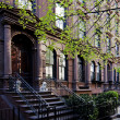 Brownstone townhouse - Stock Photo