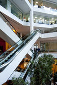 Office building escalators — Stock fotografie