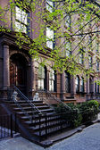 Brownstone townhouse — Stock Photo
