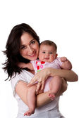 Happy mother and baby daughter — Stock Photo