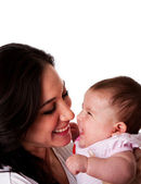Mother and Daughter having fun laughing — Stock Photo