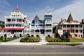 Colorful Victorian style houses — Stock Photo