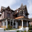Stock Photo: Colorful Victoristyle house