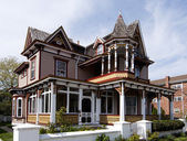 Colorful Victorian style house — Stock Photo