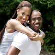 Happy smiling African couple — Stock Photo