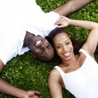 Happy smiling African couple — Foto Stock