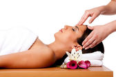 Facial massage in spa — Stok fotoğraf