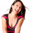 Happy laughing young woman — Stock Photo