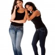 Young woman couple standing — Stock Photo
